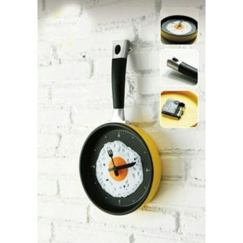 Frying Pan Shape Wall Clock