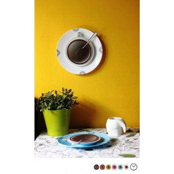 Coffee Cup with Saucer Wall Clock